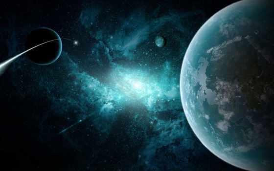 планеты, космос, звезды, галактика, debian, комета, туманность, outer, картинку, картинка, linux, planets, gnu, stars,