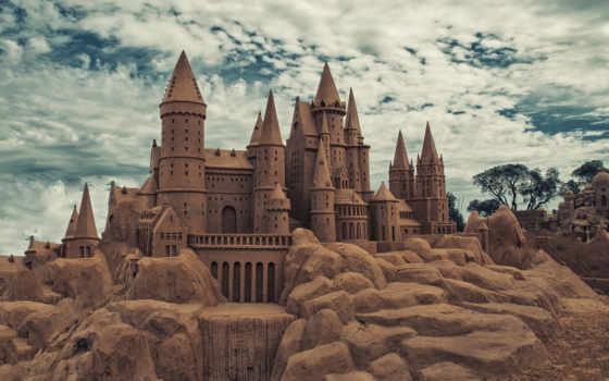 песок, hogwarts, castle