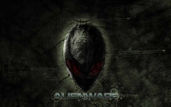 alienware, logo, голова