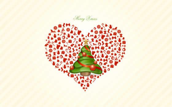 елочка, подарков, маленькая, снегу, елка, сердце, красивой, страница, картинка,