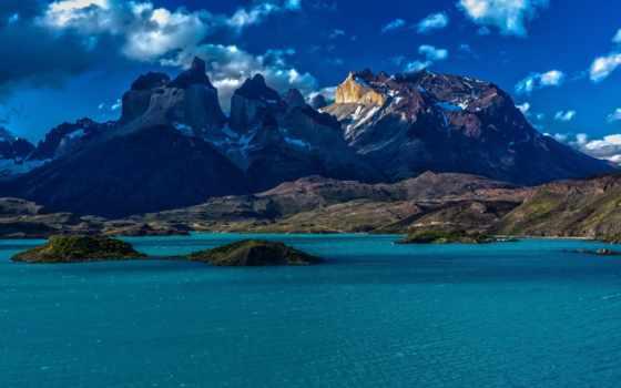 chile, mountains, природа, patagonia, горы, море, гора,