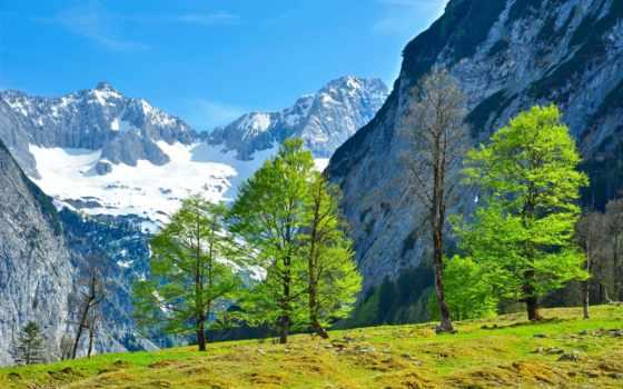fond, ecran, paysage, природа, fonds, montagnes, изображение,