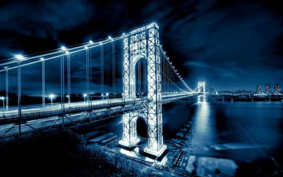 washington, джордж, мост, new, джорджа, вашингтона, картинка, jersey, manhattan, нью,
