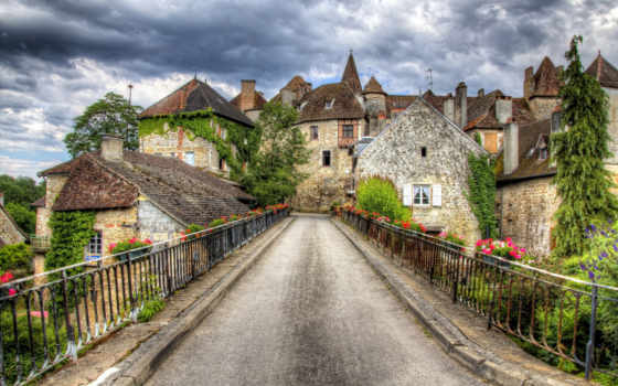 города, франция, дороги