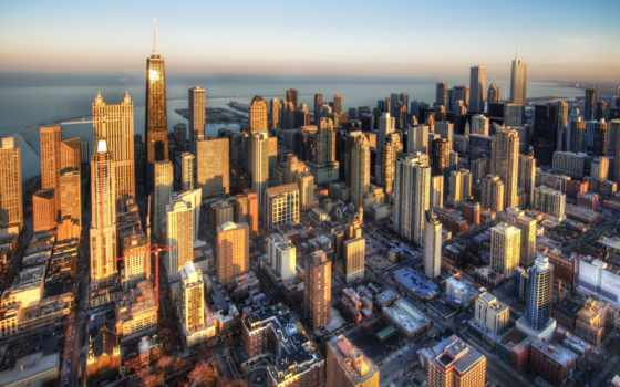 chicago, сша, здания, extrip, город, небоскребы, фотографий, путешествий,