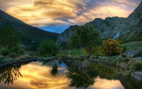 природа, фотографий, пейзажи -, природы, trees, zhivotnye, заставки, сказочно, water, бесплатные,
