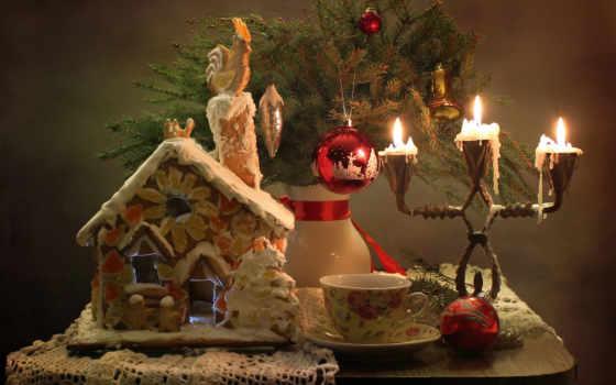 new, год, christmas, кот, decoration
