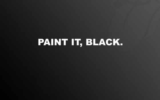black, paint