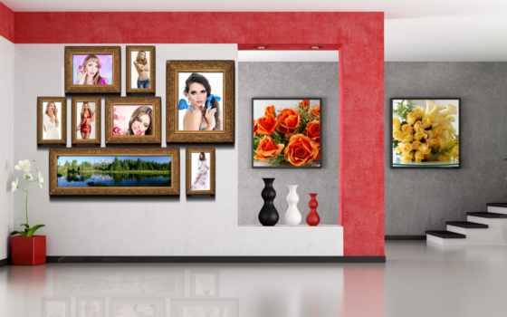 вазы, комната