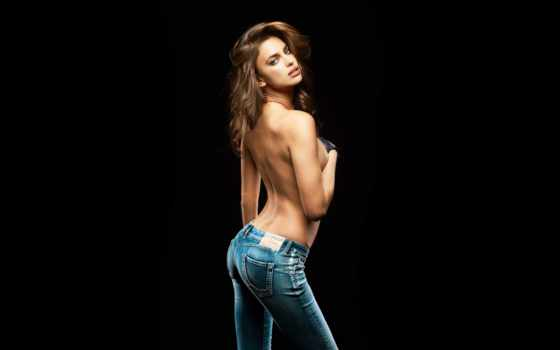 джинсы, devushki, талией