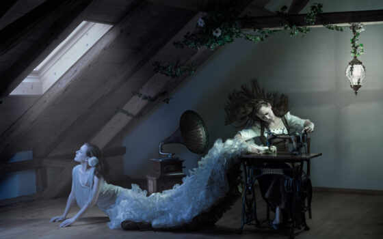 shveya, девушка, свет, лунно, cool, женщина, fantasy, платье, машина, white, фото