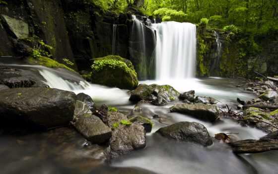 водопад, камень, gidroresurs, vodyt, природа, water, ручей, korablus, povalit, дерево