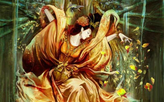 fantasy, girls, cgi, walls, background, art, kunst, image, mystic,