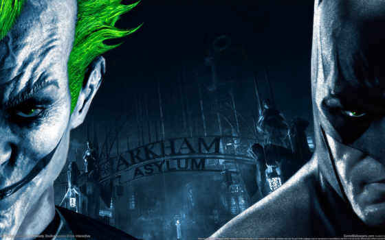 batman, arkham, asylum, ipad, joker, город, игры,