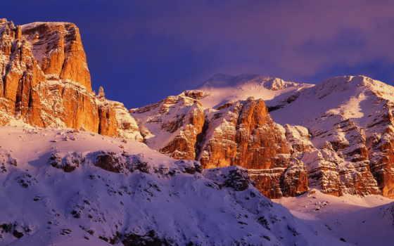 горы, заснеженные, природа, скалы,