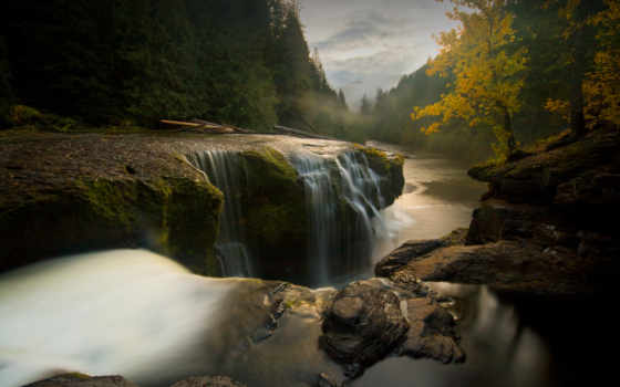 природа, водопад, full, reki, страница,
