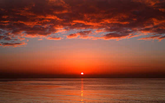 закат, солнца, rising, море, sun, закате, но,