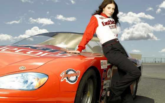 carros, parede, mulheres, mulher, vermelho, carro, devushki,