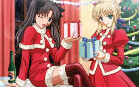 anime, new, год, арты, коллекцию, новогодние, яndex, коллекциях, посмотрите,