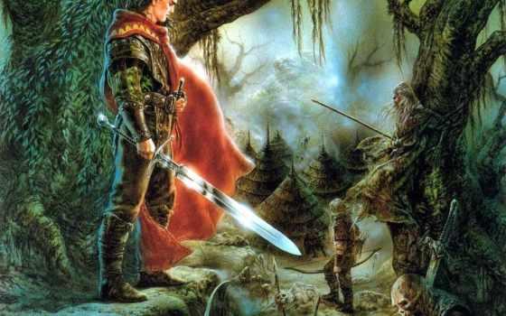 рыцарь, поле, боя