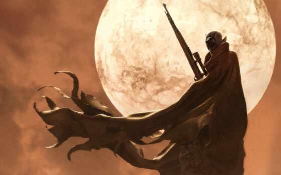 art, fantasy, снайпер, фантастика, оружие, scus, существо