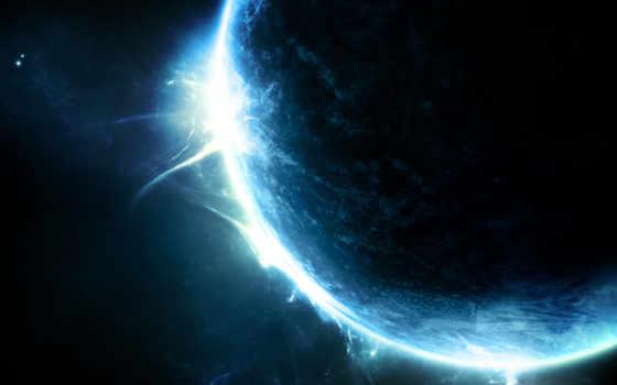 планета, свечение