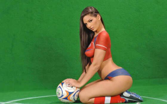Футбольный боди-арт