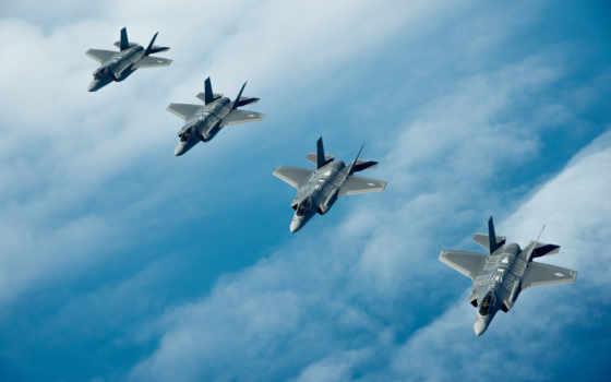 истребитель, squadron, lightning