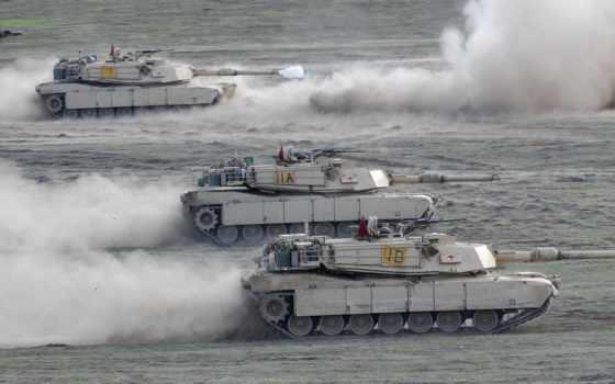 оружие, техника, танк, абрамс, пулемёт, пустыня