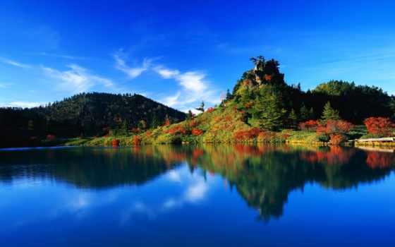 природа, озера, японии