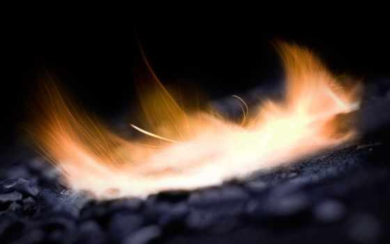 огонь, макро, пламя, искры, руке,