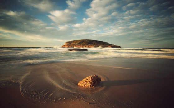 ibiza, берег, water, пляж, небо, surf, песок, landscape,
