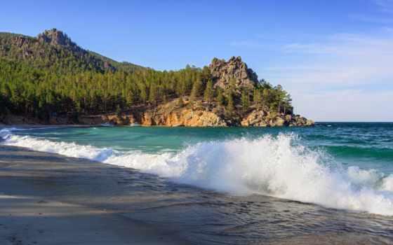 байкал, озеро, россия, photos, stock, песчаный, images, rock, фото, bay,