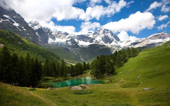 альпы, гора, изображение, desktop, mountains, scenery, австрия,