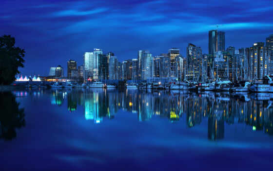 vancouver, канада, sports, status, город, ночь, british, колл