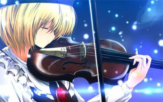 аниме, hair, similar, violin, девушка, touhou, профиль, picsfab, blonde, colors, hat, lunasa, арт, музыкальный, инструмент, votos, категория,