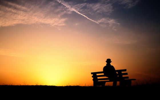 loneliness, мужчина, закат, скамейка, phan, full, одиночка, ноутбук,