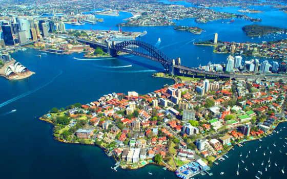 мост, harbor, сиднея, сиднее, sydney, театром, оперным,