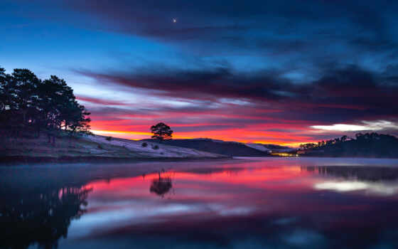 облако, закат, permission, фото, фон, природа, отражение, water, ultra, available