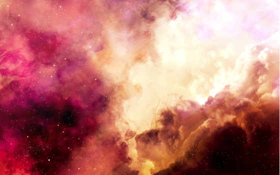 облака, небо, звезды