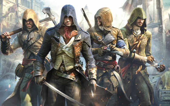 creed, assassin, unity, rub, игры, playstation, uncharted, far, edge,