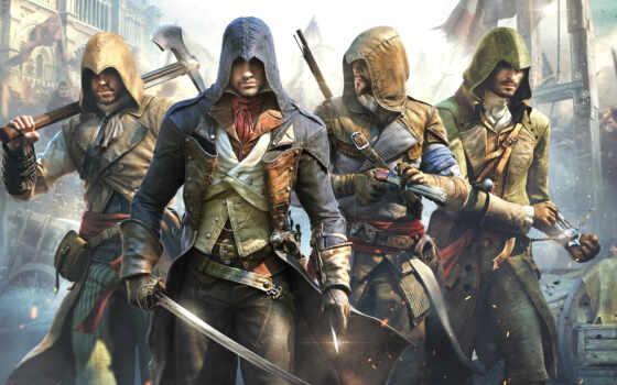 creed, assassin, unity Фон № 151305 разрешение 1920x1200