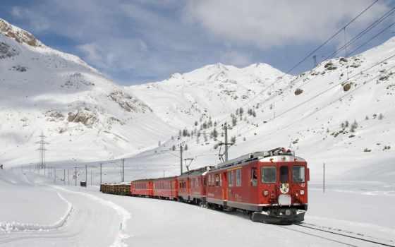 winter, дорога, поезд, железная,