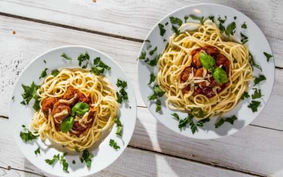 лапша, макароны, тарелки, meat, wooden, блюдо, еда,