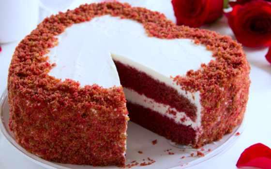 торт, сердце, red, торты, cakes, бархат, купить,