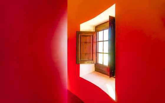 окно, windows, интерьер, red, комната,