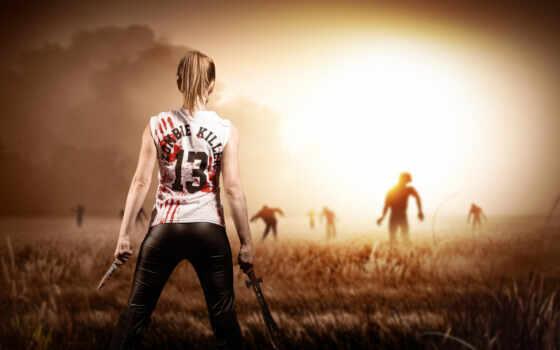 зомби, machete, game, бумага, otzyv, die, день, современный, жанр, плакат, vongozero