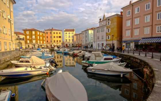 италия, город, причал