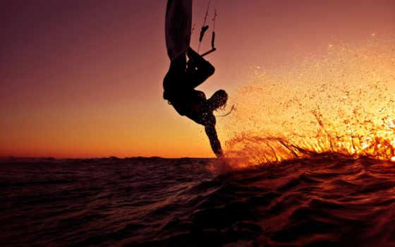 спорт, сёрфинг, ocean, доска, брызги, waves, волна,