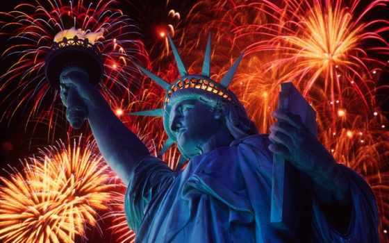 , сша, страны, нью, года, статуя свободы,